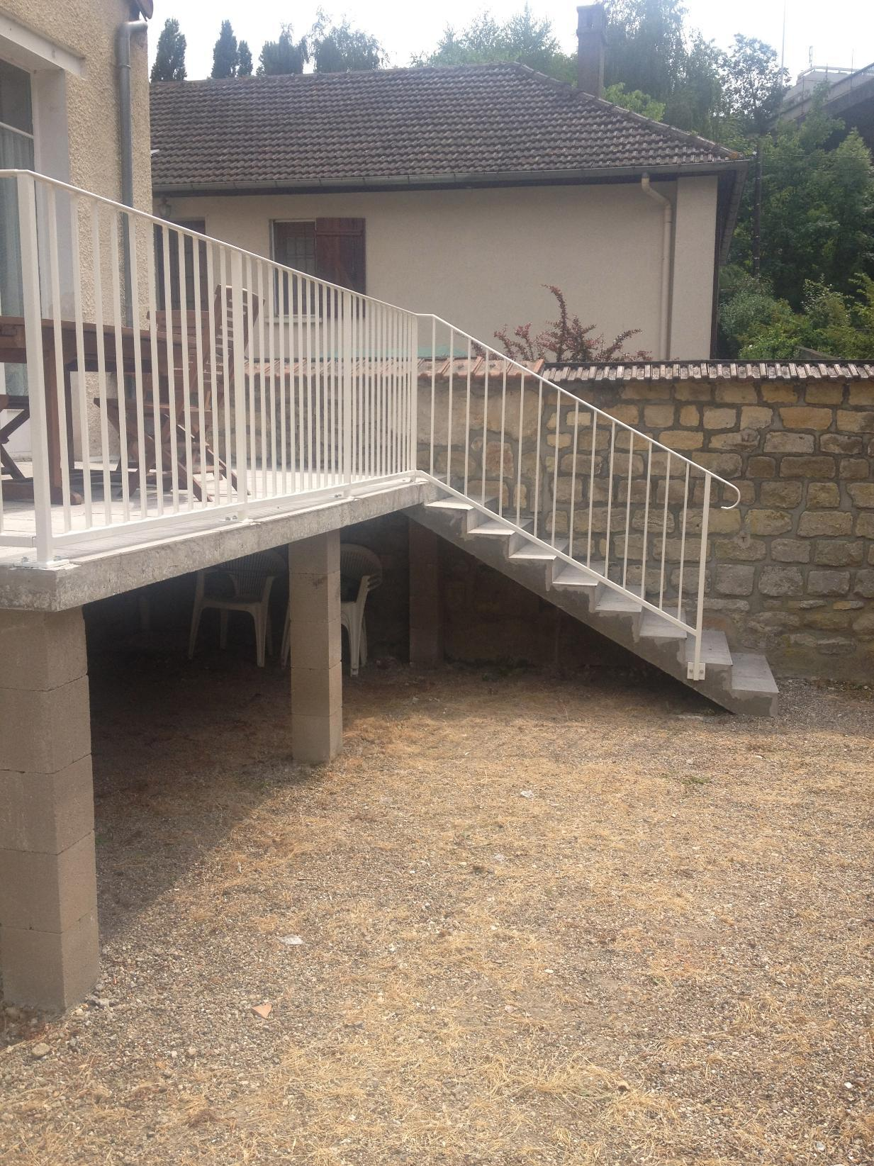 Escalier Val D Oise travaux de métallerie-ferronnerie et serrurerie à herblay